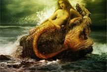 Myth: Mermaids and Nymphs / Mythological creatures associated with fish existing in many myths and folk legends...Please keep pins board related. Duplicates or inappropriate pins will be deleted without question or notification which could result in repeat offenders being blocked from the board. Please, don't let this happen...
