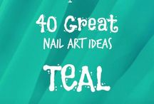 Crumpet Nail Tarts Presents - Teal / Crumpet Nail Tarts 40 Great Nail Art Ideas
