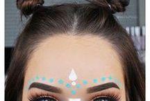   festival makeup   / inspiration for Coachella, EDC, Beyond Wonder - you name it!