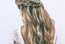   wedding hair   / Up-dos to floral crowns - we have it!
