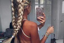   modern braids   / braids on braids on braids