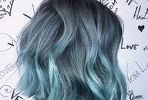   colorful hairstyles   / hair colors from the entire spectrum