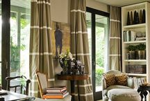 """Draperies / Our signature style is """"simple elegance."""" We love clean contemporary looks, natural fibers, geometrics, color blocking and couture detailing!"""