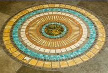 Floor Mosaics and Accents / Handcrafted turquoise tile custom cut to suit your design ideas.  / by Gemstone Tile LLC