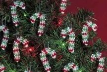Christmas Kits ~ Candy Canes & Icicles / Candy canes, icicles, baubles, and other dangle-style beaded Christmas ornament kits to add sparkles to your holiday decor! Easy to make! Kits come with all materials needed for the project at a considerable savings over purchasing them separately.