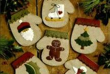Felt Applique Kits / Choose from an array of delightful felt applique and felt embroidery Christmas ornament kits from such top designers as Bucilla, Rachel's of Greenfield, and Dimensions. Find Santa Claus, snowmen, mittens, gift pockets and many more! Kits come with all felt, embellishments, and floss needed for the project -- all at a considerable savings over purchasing the materials separately.
