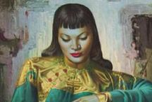 "vladimir tretchikoff / The ""king of Kitsch""... (1913 - 2006) One of the most commercially successful artist of all time. His painting..Chinese Girl (known as ""The Green Lady"") is one of the bestselling and most sought after prints for the serious collector..."