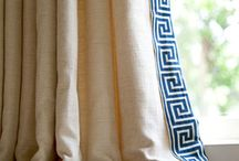 Greek Key Motifs / Greek Key motifs are everywhere! We especially love them as tape trim for window treatments and pillows!