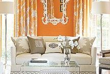 Citrus and Grey / Add some brights to help your room pop!