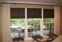 Woven Wood Shades / Woven Wood Shades are a popular affordable choice for your window coverings. They are artisan crafted using natural materials and add warmth and style to your decor!
