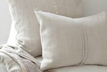 Natural Fibers / We love how natural fibers like raw silks and linens look in your home!