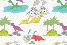 Jurassic Coast / Lewis & Irene - 'Jurassic Coast' fabric www.lewisandirene.com