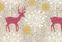 Noel / Lewis & Irene - 'Noel' Christmas fabric collection www.lewisandirene.com