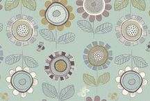 Honey Meadow / Lewis & Irene - 'Honey Meadow' fabric collection ..........  Its late summer and the delicious honey is ready. Meadow flowers wave in the breeze as the sun still gives it's warmth to the busy bees and delicate butterflies ... Honey Meadow  www.lewisandirene.com