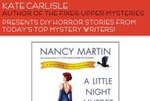 DIY Gone Awry / DIY Horror Stories from some of today's top mystery authors! Shared in celebration of Kate Carlisle's debut of the Fixer-Upper Mysteries. Book 1 is A HIGH-END FINISH. When DIY Goes Awry, call Shannon Hammer!