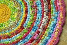 Crochet rugs/vloerkleden