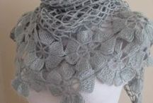 Crochet  shawls, scarfs and cowls