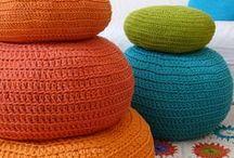 Crochet pouf/poef
