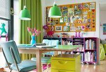 Hogar, colorido hogar / Casas con mucho, mucho color