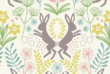 Spring Hare / Lewis & Irene - 'Spring Hare' fabric collection. Spring 2015