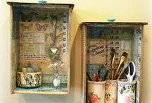 Old drawers repurposed / oude laden hergebruikt