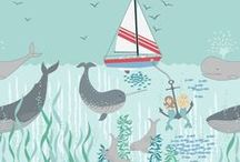 Tales of the Sea / Lewis & Irene - 'Tales of the Sea' fabric collection - Spring/Summer 2016