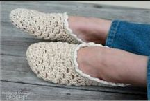 Crochet slippers, socks and leg warmers