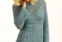 Crochet tops and sweaters
