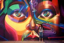 Colorful Street Art / The CHUCKFAMILY loves all kinds of art! Check out this beautiful and colorful street art!