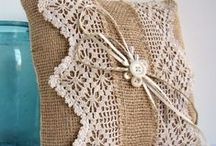 Burlap, Buttons and Lace