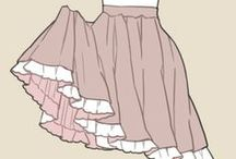 Clothes/fabric references / Drawing sheets and references for clothes and fabric