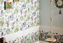 Дизайн интерьера детской комнаты / Бумажные, флизелиновые обои, бордюры, обои с акриловым напылением, фотообои, фотопанно.