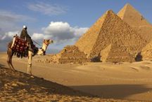 Africa North ( Board 5 ) Egypt : CAIRO , Alexandria, Luxor , ( 6 Countries in North Africa ) / It's located in northeastern Africa , Cairo as capital city,home to Giza Pyramids,museum,Egypt is not only to Pyramids , Temples ,Mummies ,but also ancient churches,monasteries, all made world most destination . Luxor site to Valley of The Kings, Sharm El Sheik scuba divings,ST Katherine monastery in Mt Sinai. Population 78,887,007 est. / by Lindawati Santosa