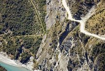 New Zealand , South Islands : WELLINGTON , Auckland , Hamilton , Roturua, Napier, Nelson, Christchurch, Queenstown, Dunedin . / Is a country of stunning natural beauty : jagged mountains, rolling pasture land, steep fiords, pristine trout filled lakes, raging rivers, beaches, and active volcanic.These Islands are one of Earth's most unique bio zones, inhabited by flightless birds seen nowhere else such as weka and kiwi.New Zealanders call themselves KIWI. Population 4,347.000 / by Lindawati Santosa