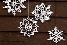 vločky, hvězdičky  /  snowflakes, stars