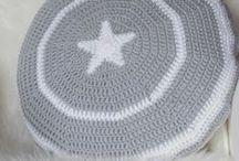 háčkované polštáře / crocheted pillows