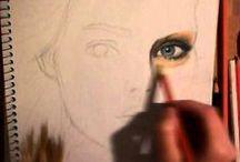 kreslení pastelkama - crayon drawing