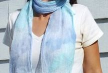 Nuno Scarves / Head and neck scarves made with soft wool and cotton scrim.  They are light enough to be worn year round and give an ethereal feel any outfit.