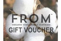 FROM's ECO Christmas Gift Guide / Stylish eco-friendly clothing and presents this Christmas. On line ethical gift vouchers and cards. Green gifting and eco gifts for the environmentally conscious. Shop with a conscience this Christmas and ask - Where do your gifts come FROM? #wearitfrom