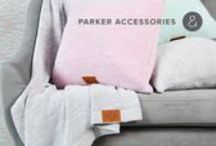 PARKER cotton throws & pillows / beautiful 100% cotton melange blankets and pillows that will brighten any sofa!