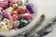 Vintage Glass Ornaments / Shiny brites, Mercury glass, vintage & antique ornaments. Some photos are from my personal collection.