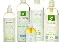 Puracy All Natural Cleaning Essentials / Puracy Home Essentials is a line of carefully developed home cleaning products made from plants, minerals, and natural fragrances. Our products are guaranteed to be effective, and may be safely used around kids, pets and your family. Since our products are natural, they contain renewable ingredients that safely degrade in the environment. We pride ourselves in having formulations that are pure and free from any harsh chemicals, and petroleum or animal-based ingredients.