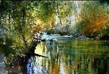 ART akvarel / malba akvarelovými barvami,náměty