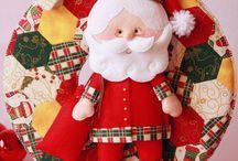 Guirlanda de Natal / Se você ama o Natal, ama artesanato e ama Feltro... então este Molde e Tutorial são pra você!  Preparei com muito carinho o molde e passo a passo deste fofo Papai Noel em feltro, que você pode colocar onde quiser! Para baixar o PAP gratuitamente, acesse meu site: www.boutiquedofeltro.com