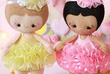 Baby Bailarinas {baby ballerinas} / Bailarinas em feltro