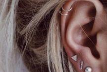 Earrings & piercings / Multiple earrings and piercings