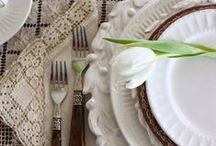 Tabletop / Beautiful ideas for the tablescape.