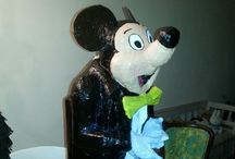 Mickey Mouse / Mickey Mouse van papier mache