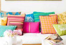 prismatic colour / multi-coloured interiors