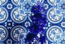 inky blues / blues interiors